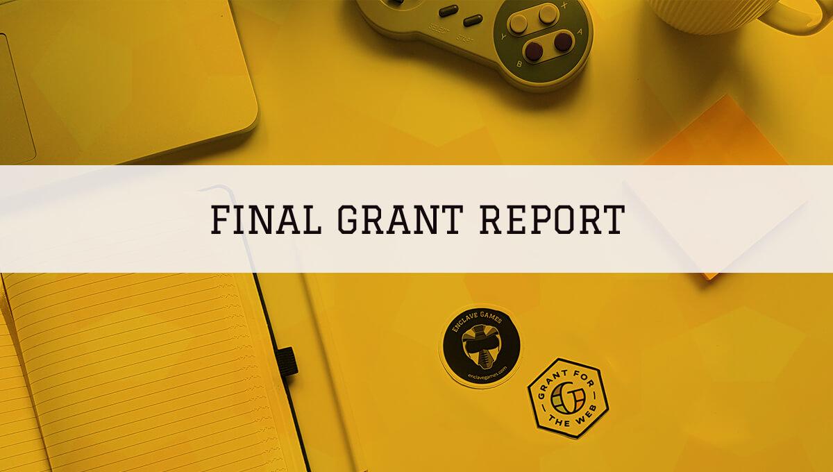 Web Monetized HTML5 Game Development — final Grant report