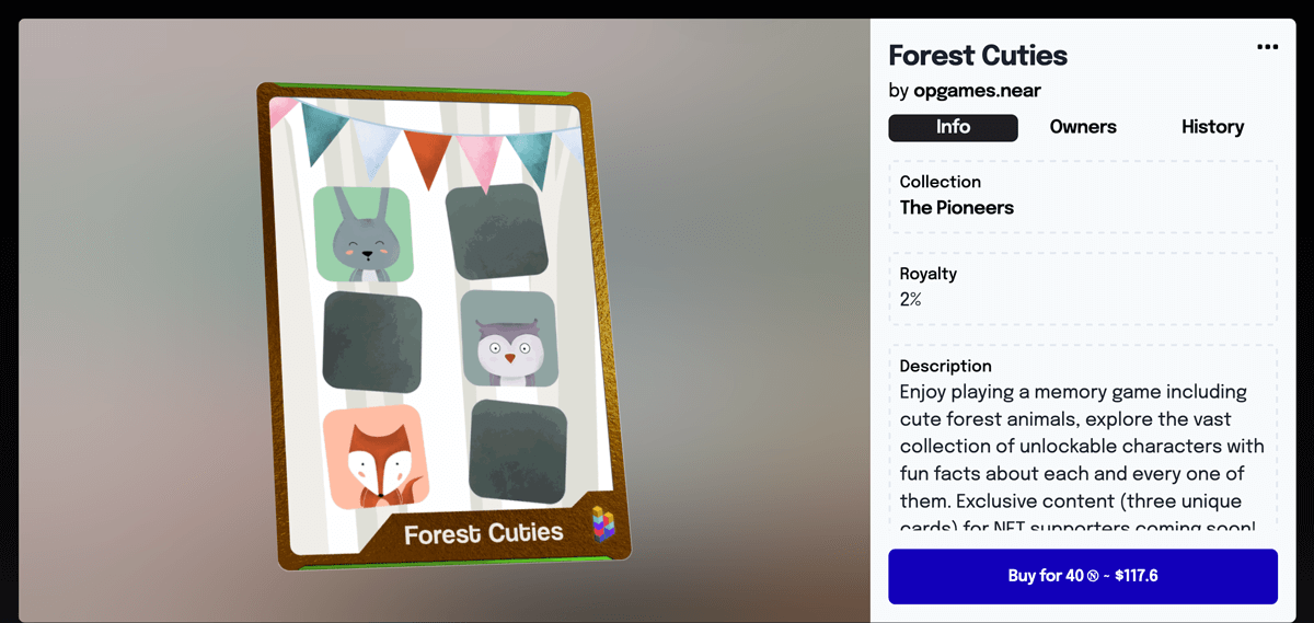 Enclave Games - Forest Cuties: NFT card